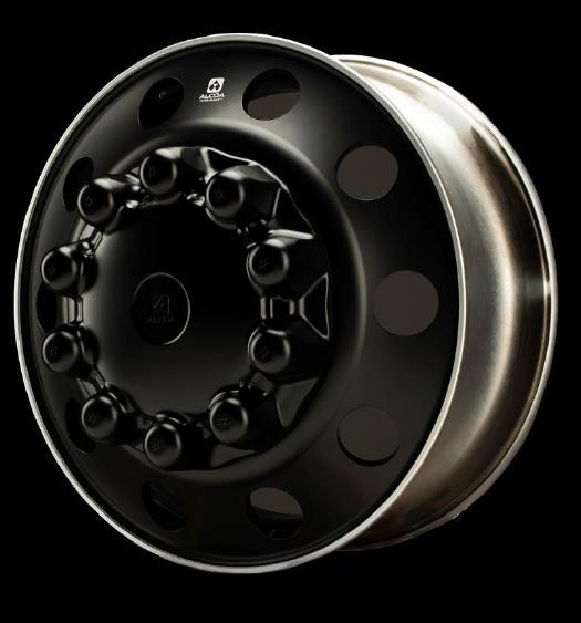 Alcoa 22 5x8 25 Dura Black Aluminum 10x285mm Hub Pilot Wheel Ultrablk